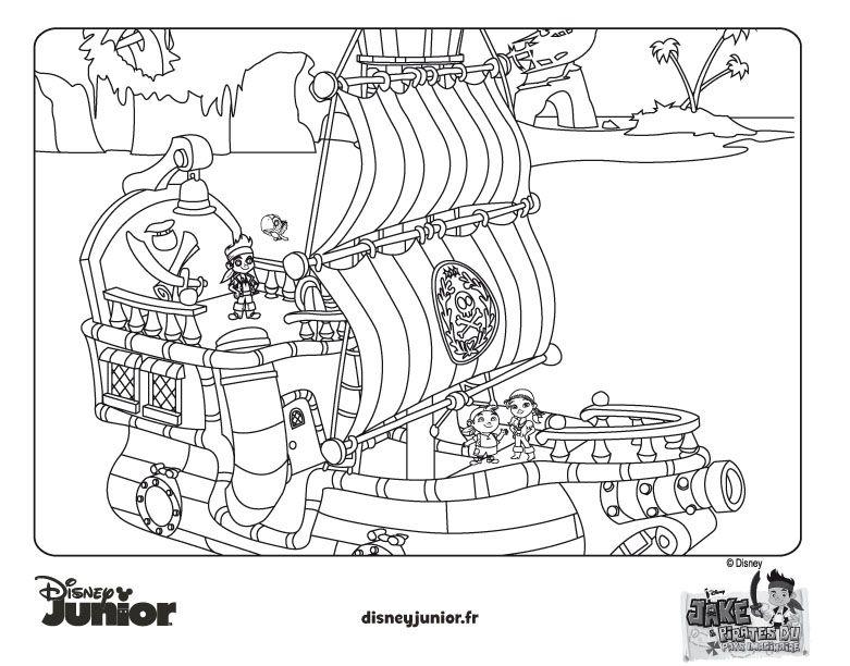 Coloriage De Jake Jake Et Les Pirates Du Pays Imaginaire