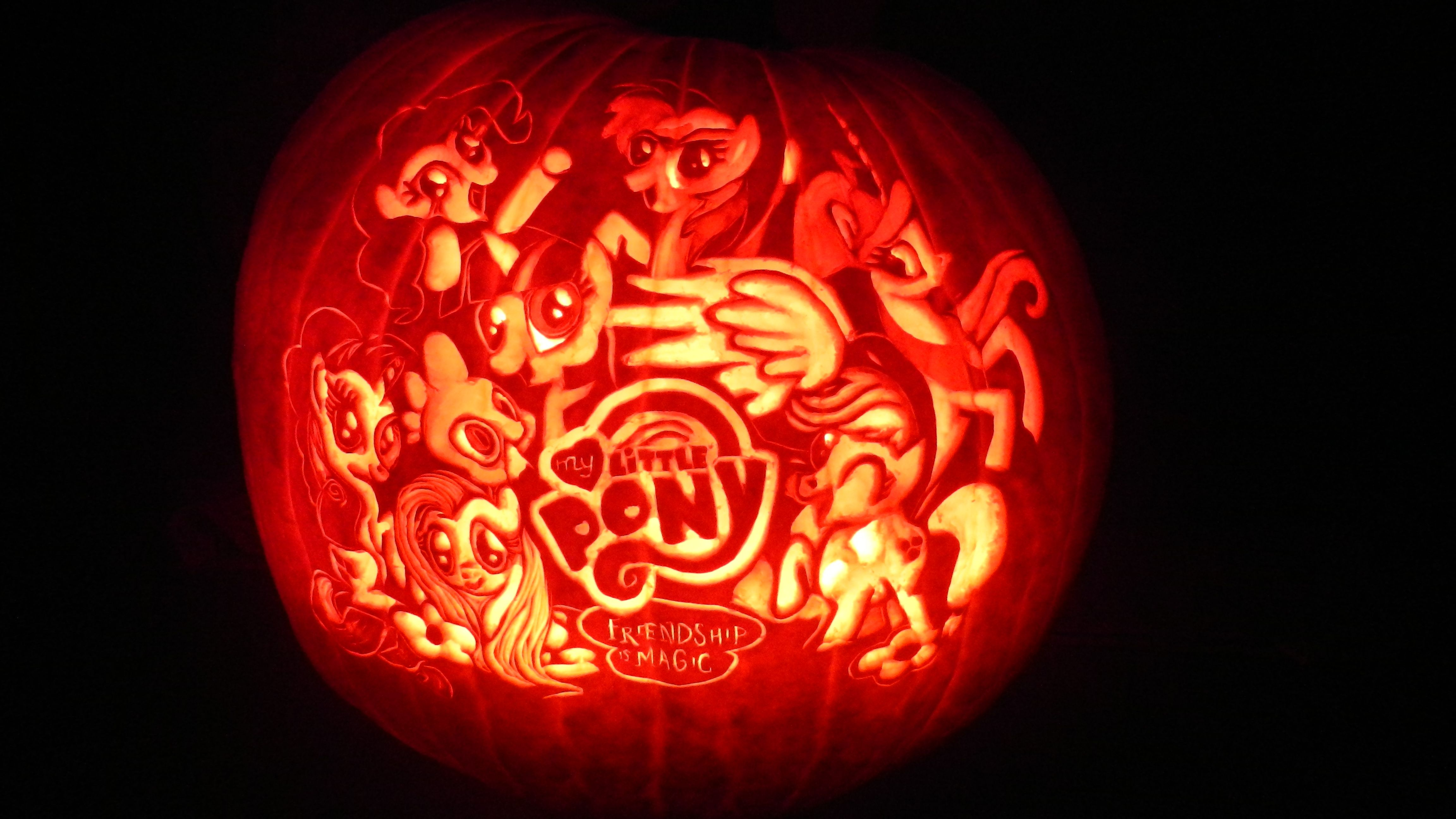 My Little Pony Pumpkin | Fall Pumpkin Carving Ideas | Pinterest