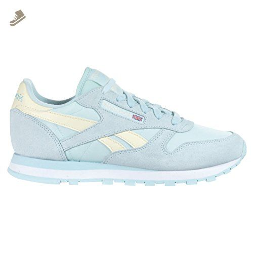 462a98fff3b Reebok CL Leather Seasonal I Womens Classics Shoe 11 Whisper Blue-Washed ...