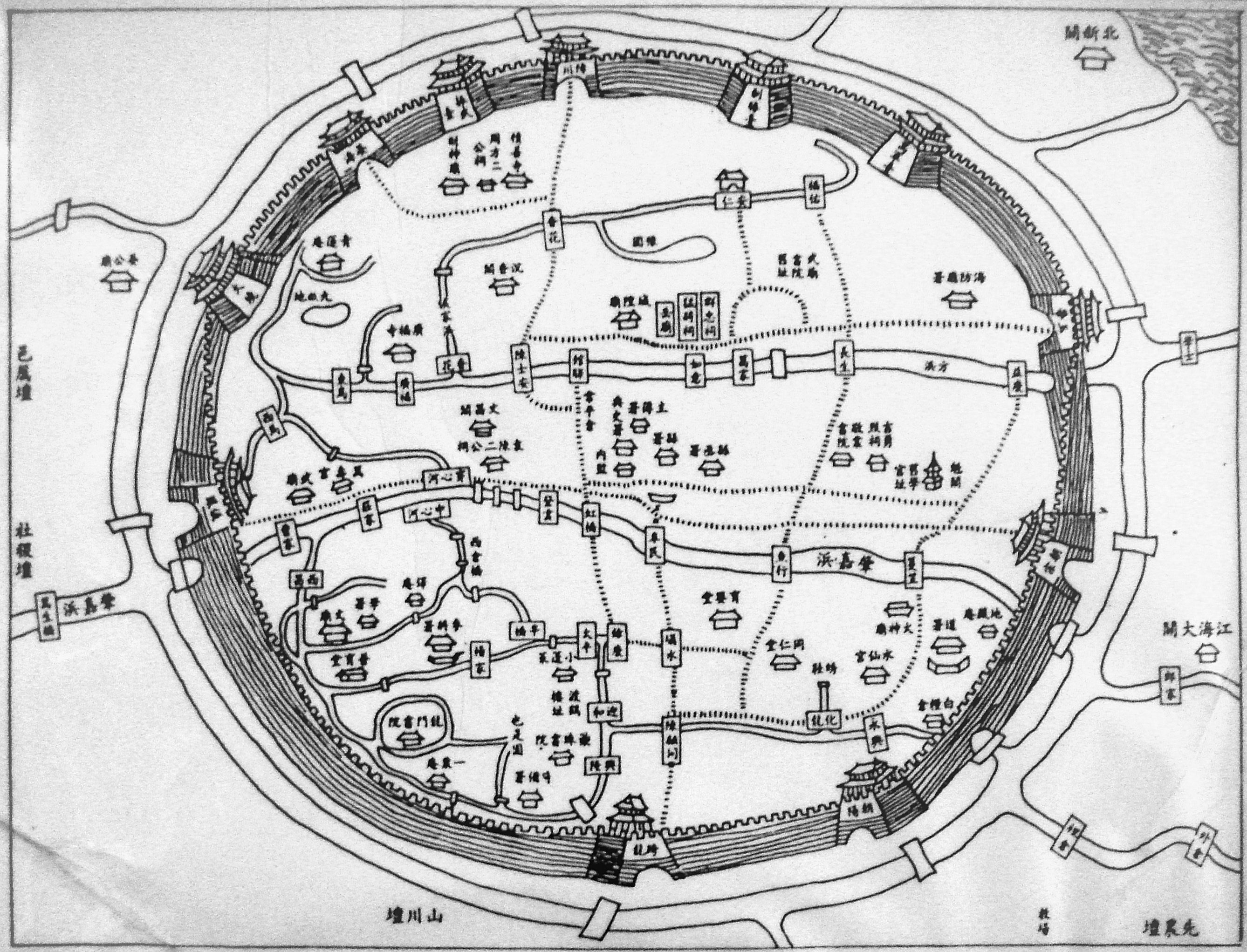 Map of the Old City of Shanghai