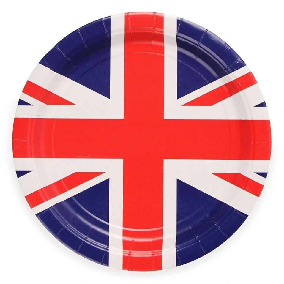 20 X Union Jack Paper Plates Royal Wedding Jubilee Tableware Street Party