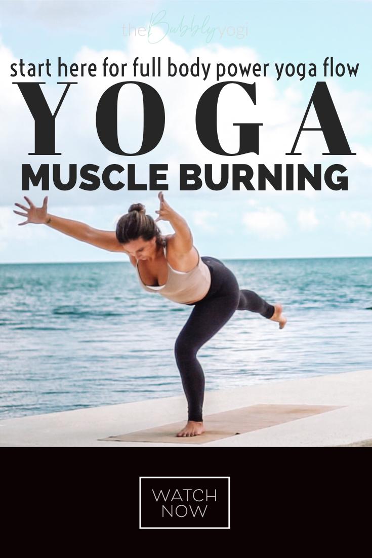 Full Body Muscle Burning Yoga Class Free Yoga Video In 2020 Free Yoga Videos Strengthening Yoga Yoga Core Workout