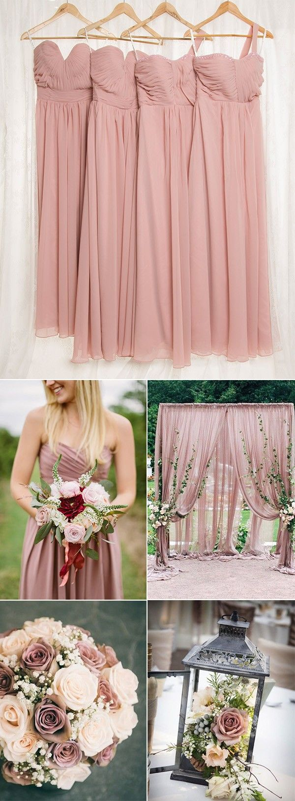 dusty rose wedding color ideas and bridesmaid dresses | Entourage ...