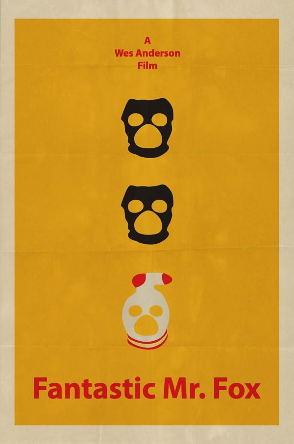 Fantastic Mr Fox Poster By Emily Vincent In 100 Fresh Minimal Movie Posters 영화