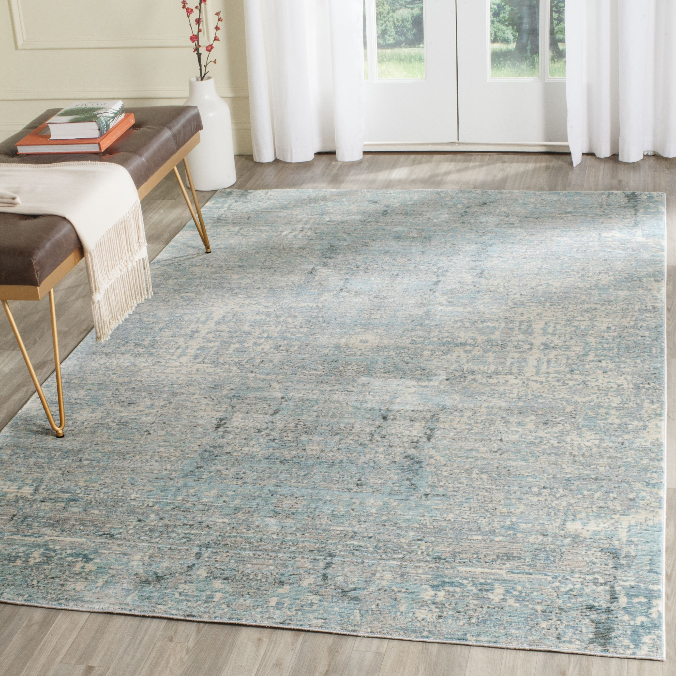 Safavieh Abella Teal Area Rug Reviews Wayfair Co Uk
