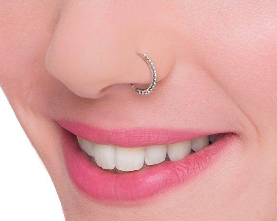 Indian Nose Hoop Sterling Silver Nose Ring Tribal Nose