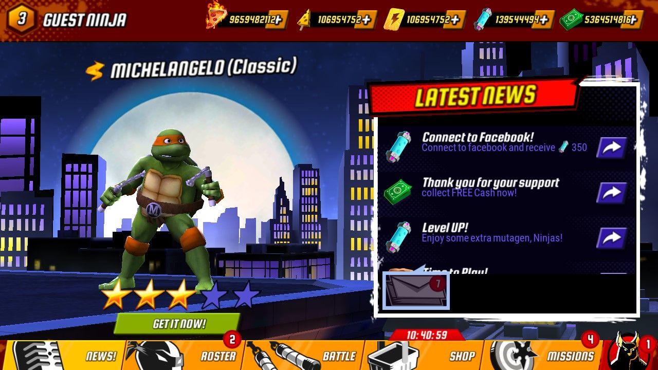 Ninja Turtles: Legends v1 11 36 Mod APK💎Unlimited Money