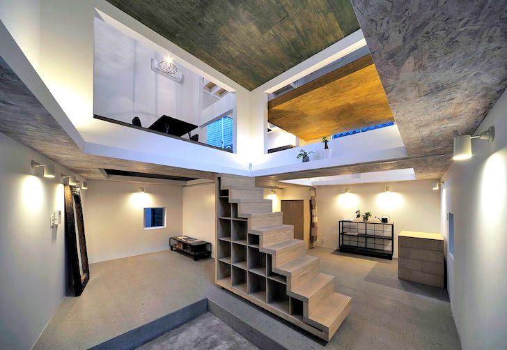 Couple uses ladders to navigate their tokyo ninja house architecture interiorsminimalist architecturetokyo architecturearchitecture designamazing