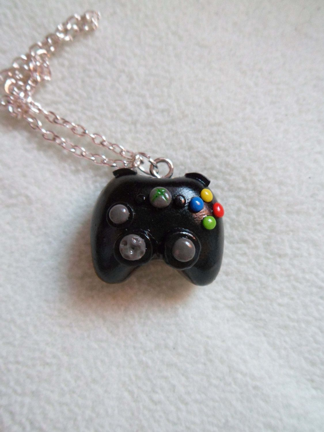 Xbox controller necklace. So cute!