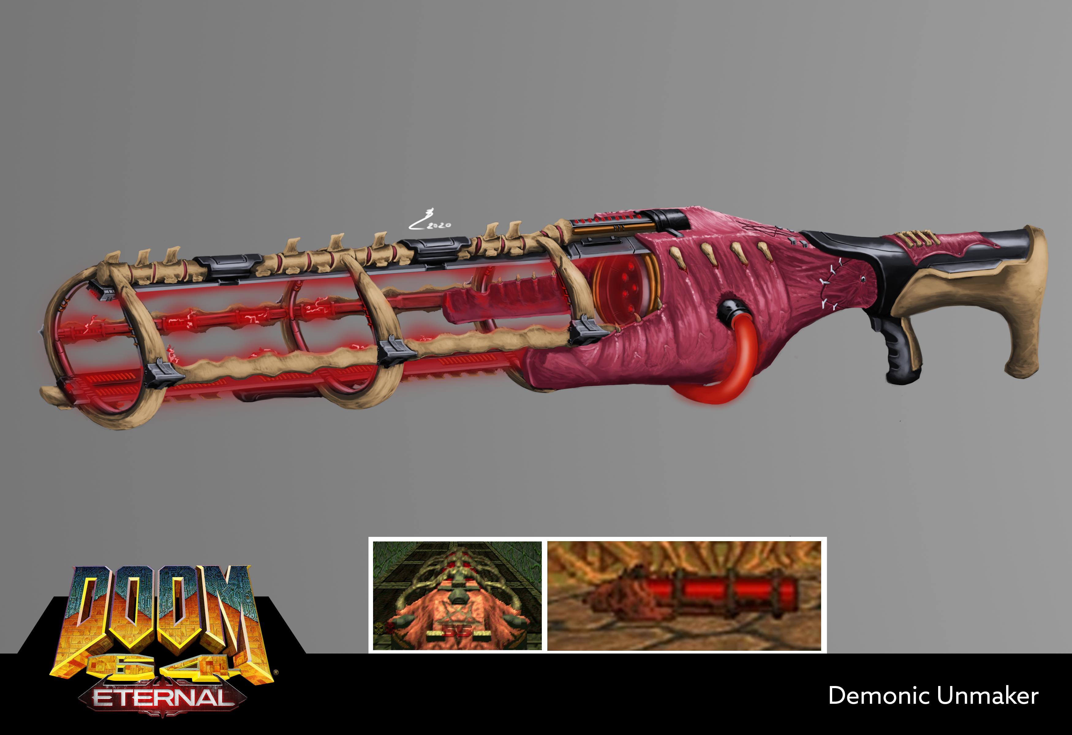 Doom 64 Unmaker Fan Art Doom Video Game Slayer