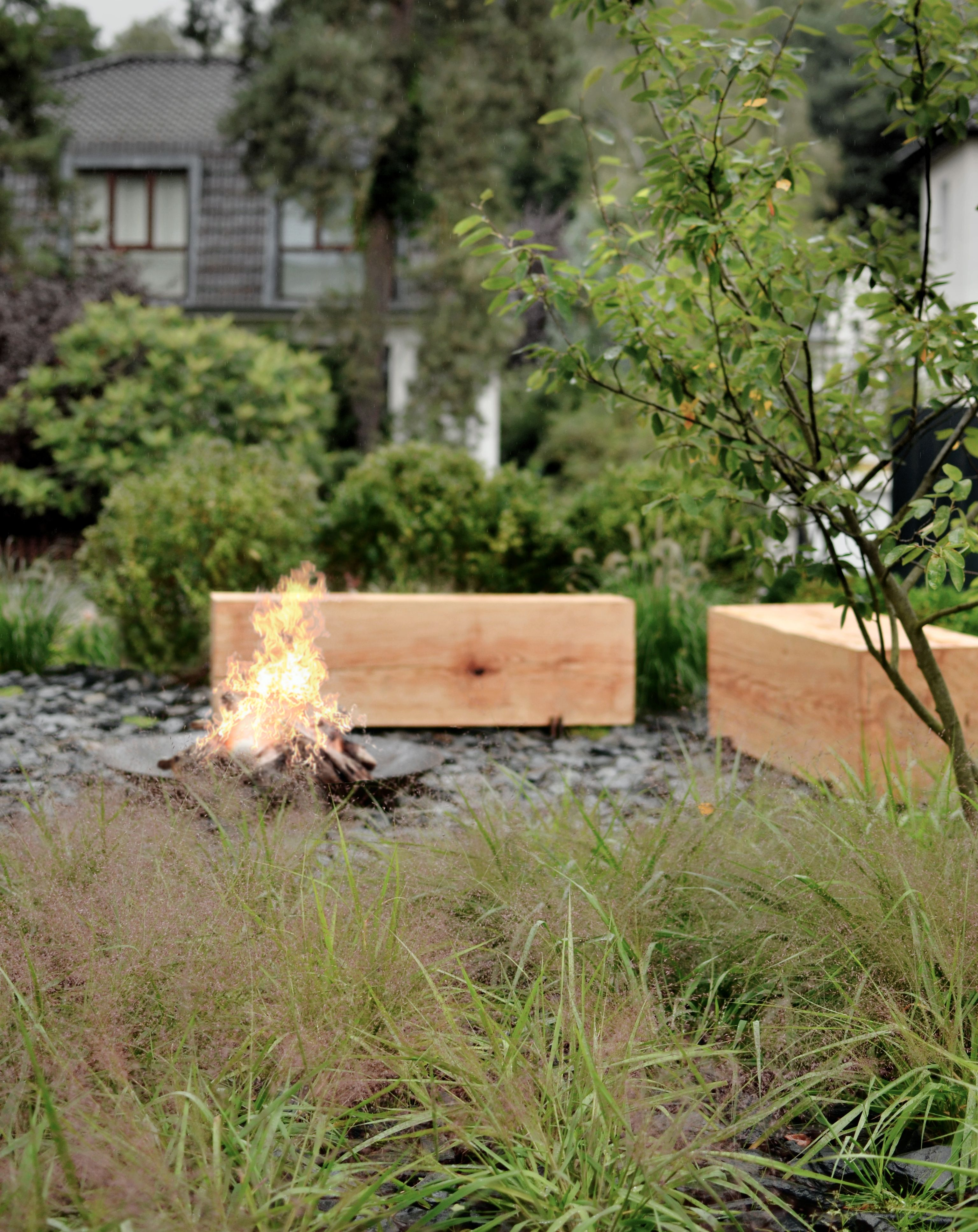 let s warm up in the garden in berlin garden design by wiktor