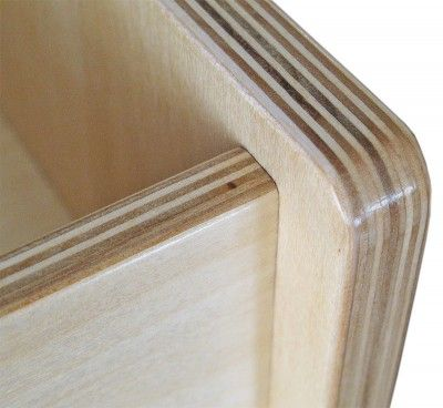 Baltic birch edges don t look too bad when shaped sanded and