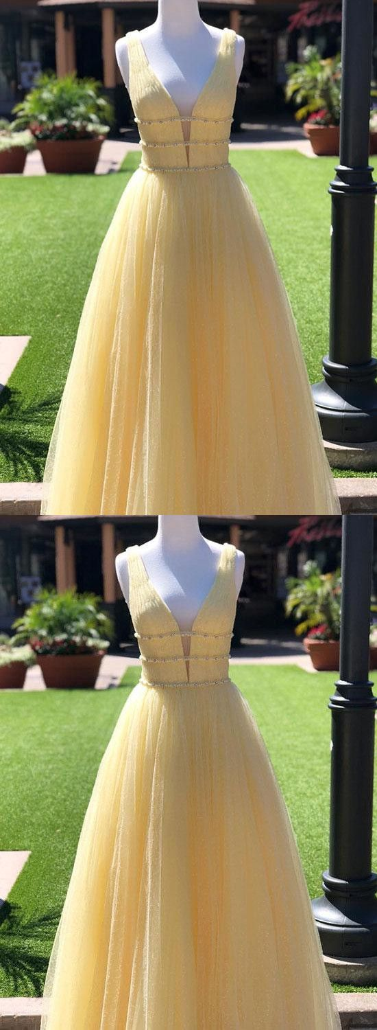 9954819f72c2 Chic Yellow Tulle Prom Dress Vintage Cheap African Long Prom Dress # VB2789  | 2019 Long Prom Dresses | Prom dresses, Tulle prom dress, Dresses