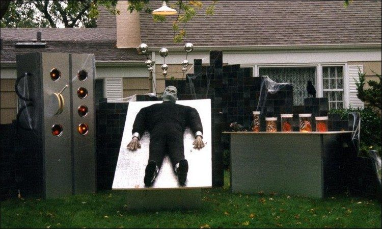 50 Halloween Decorations That Are Beyond Over the Top Frankenstein - decorate house for halloween