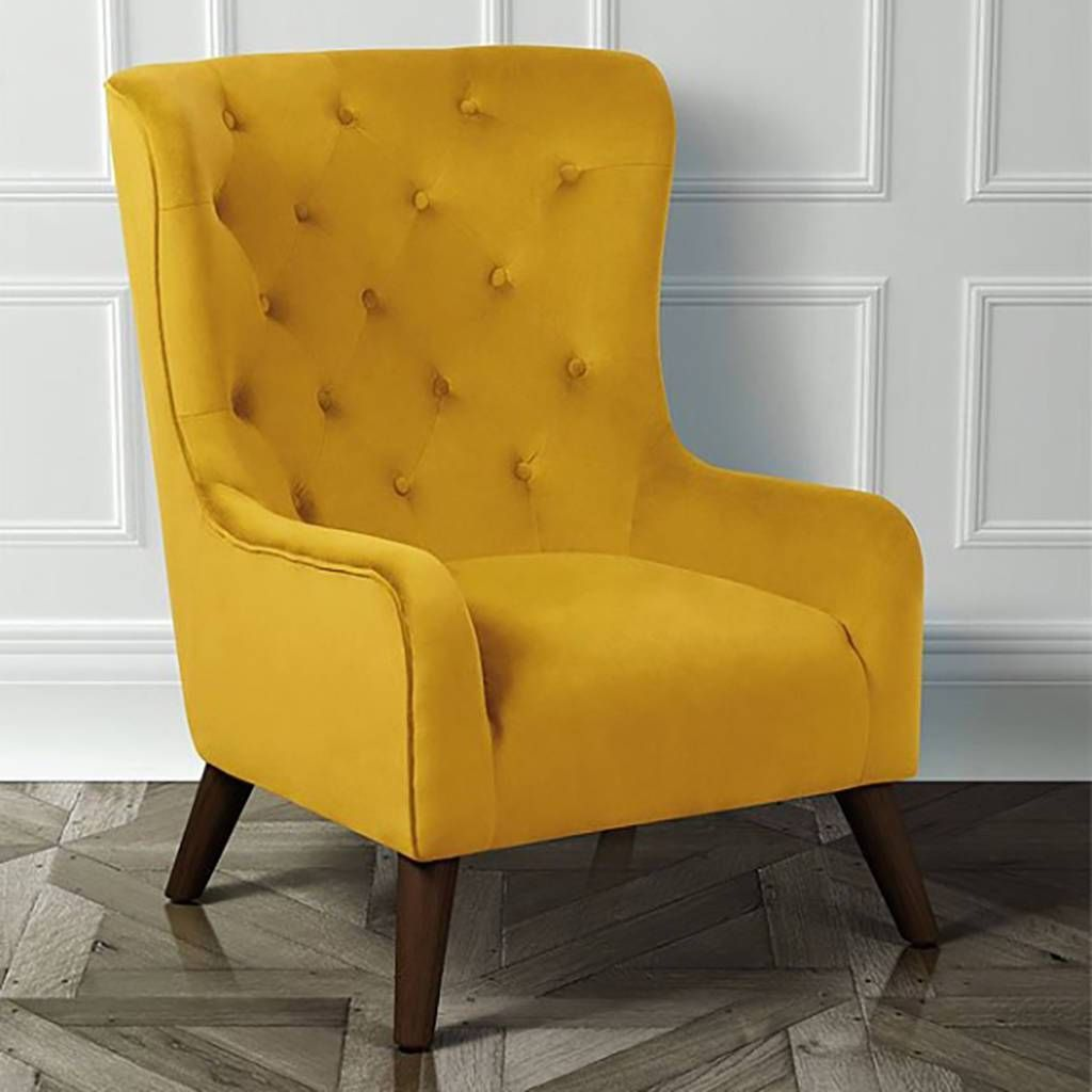Image Result For Yellow Tufted Chair Comfortable Living Room Chairs Lounge Armchair Living Room Chairs