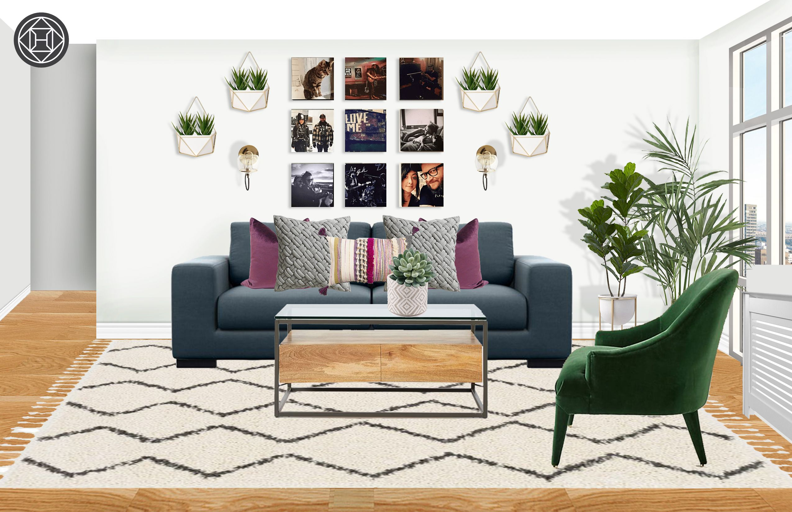 Contemporary Eclectic Global Living Room Design By Havenly Interior Designer Akira With Images Eclectic Living Room Global Living Room Living Room Designs