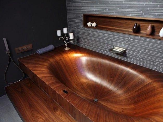 Vasca Da Bagno In Legno L Idea Di Assoluto Design Di Alegna