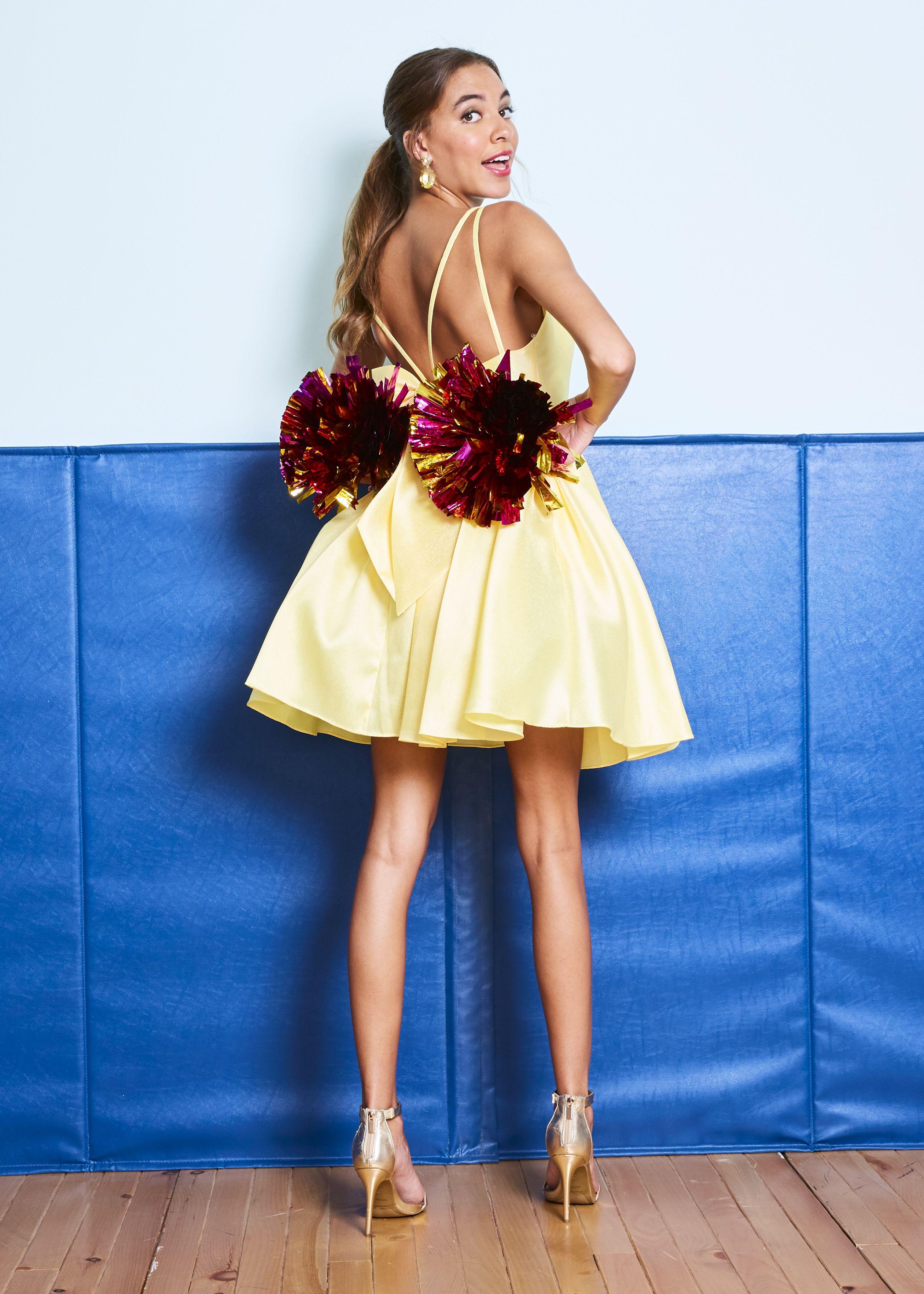 View Dress Detail: AT-6036 | Satin homecoming dress, Prom