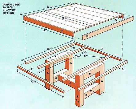 Cedar Patio Table Plans Backyard Ideas Pinterest Table Plans