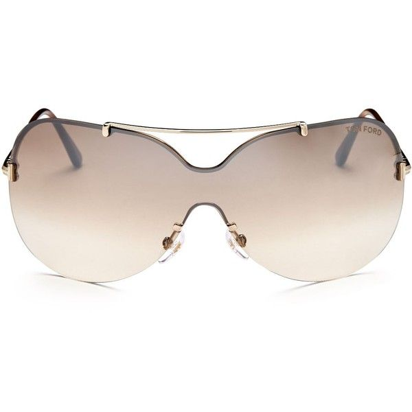 3d37623eb691 Tom Ford Ondria Brow Bar Shield Sunglasses