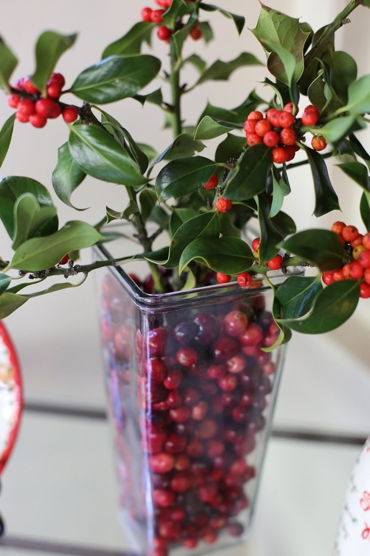 Fresh cut holly in a vase makes for beautiful christmas and fresh cut holly in a vase makes for beautiful christmas and holiday decor or a table centerpiece for the holiday season use a small vase inside a larger reviewsmspy