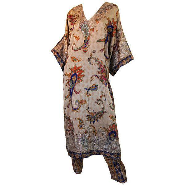 be8c21ded41 1980s Never Worn Oscar De La Renta Set ❤ liked on Polyvore featuring  dresses