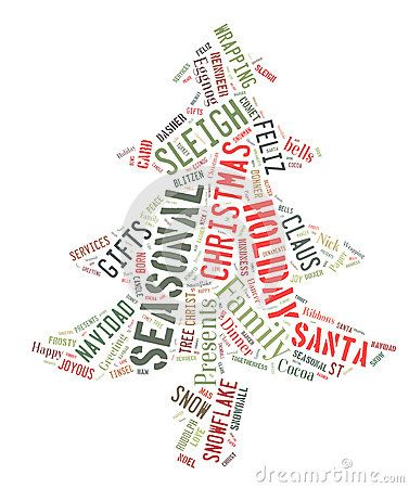 Word Cloud showing words dealing with the Christmas Season by - christmas card word