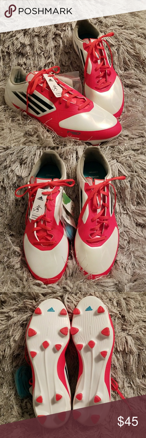 reputable site 4cb58 e3906 Spotted while shopping on Poshmark  Adidas F-30 Womans Soccer Cleats ⚽ !   poshmark  fashion  shopping  style  adidas  Shoes