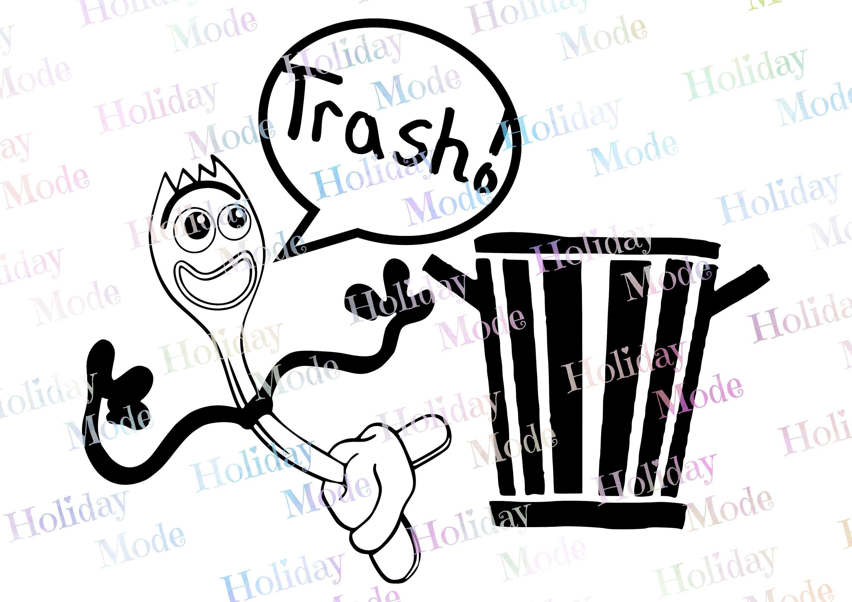 Disney Toy Story 4 Forky Trash Svg