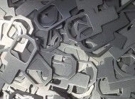CNC punched and barrel deburred mild steel brackets http://www.vandf.co.uk/sheet-metal-work-manufacturing-in-fareham-hampshire/