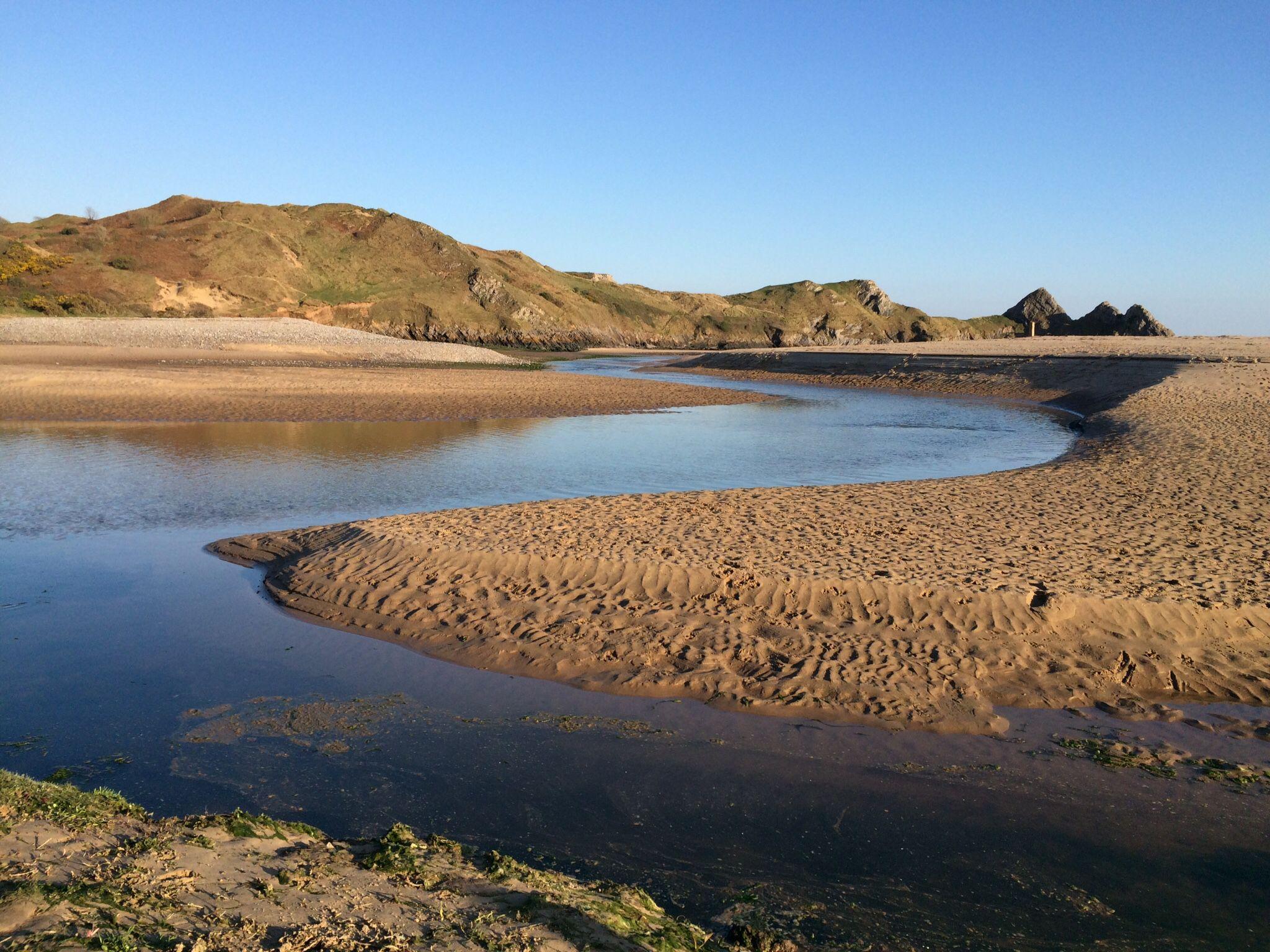 Beautiful three cliffs bay, gower
