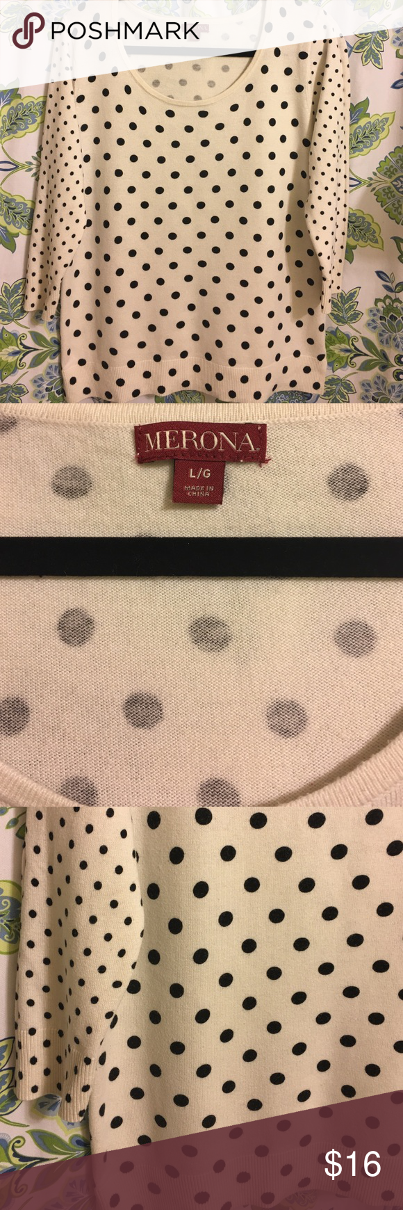 MERONA  Size L. SWEATER Preowned in perfect condition fits good to size L .Machine wash . Merona Sweaters Crew & Scoop Necks