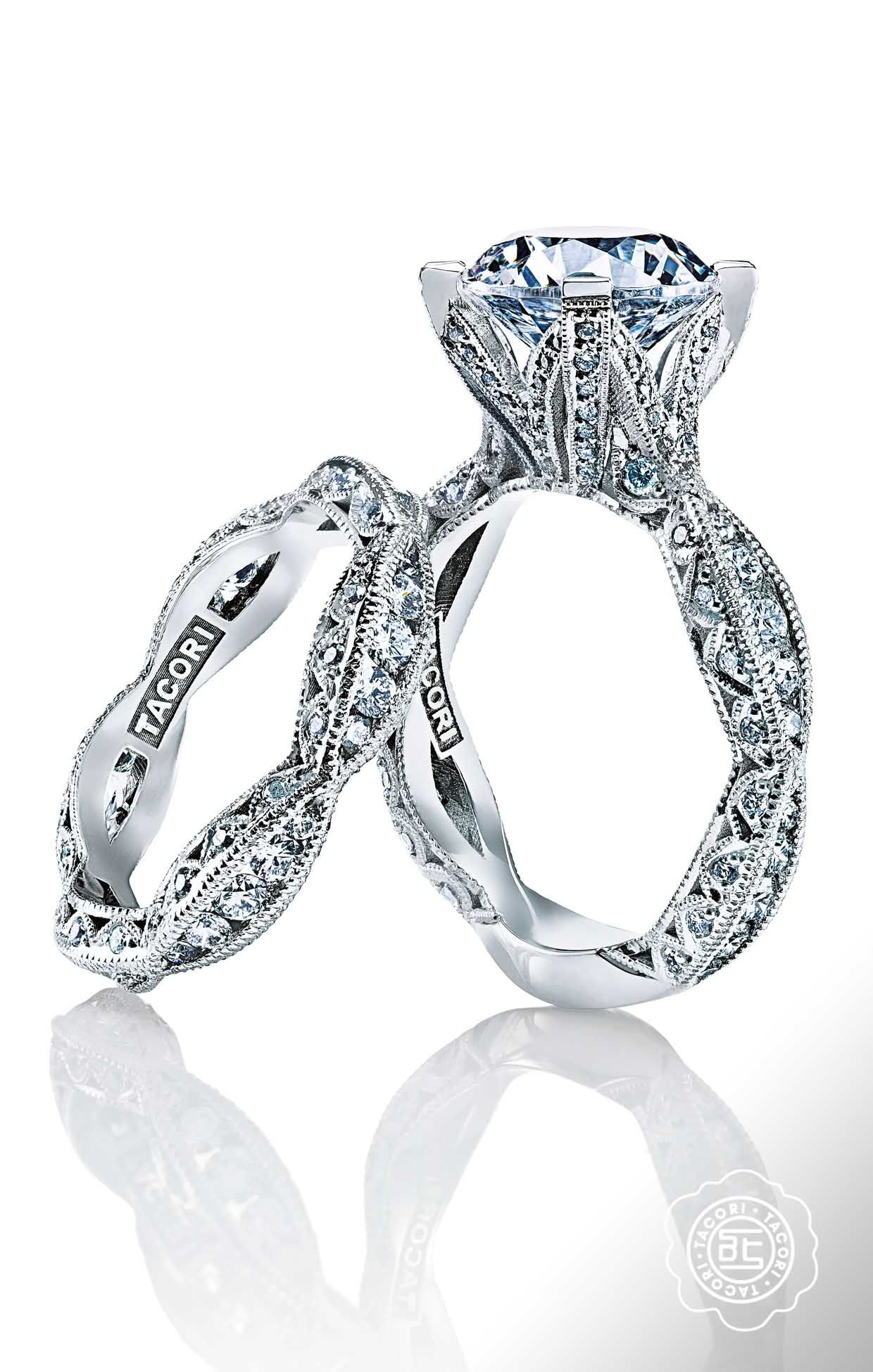 diamond glamorous layout sylvie engagement clipped rings collection