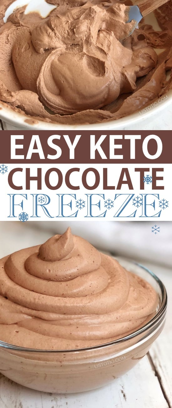 KETO Chocolate frosty is a sweet keto snack that will cool you off and satisfy your chocolate craving. 5 simple ingredients blended together create the ultimate keto chocolate frosty treat. Easy dessert for on the go when you are keeping with your ketogenic or Atkins diet. Low Carb but super-rich and DELICIOUS! Enjoy this tasty indulgence without the guilt! #keto #ketosnack #ketosweets #ketodessert #chocolatefrosty #ketochocolatefrosty #snackrecipe #ketotr #chocolatefrosty