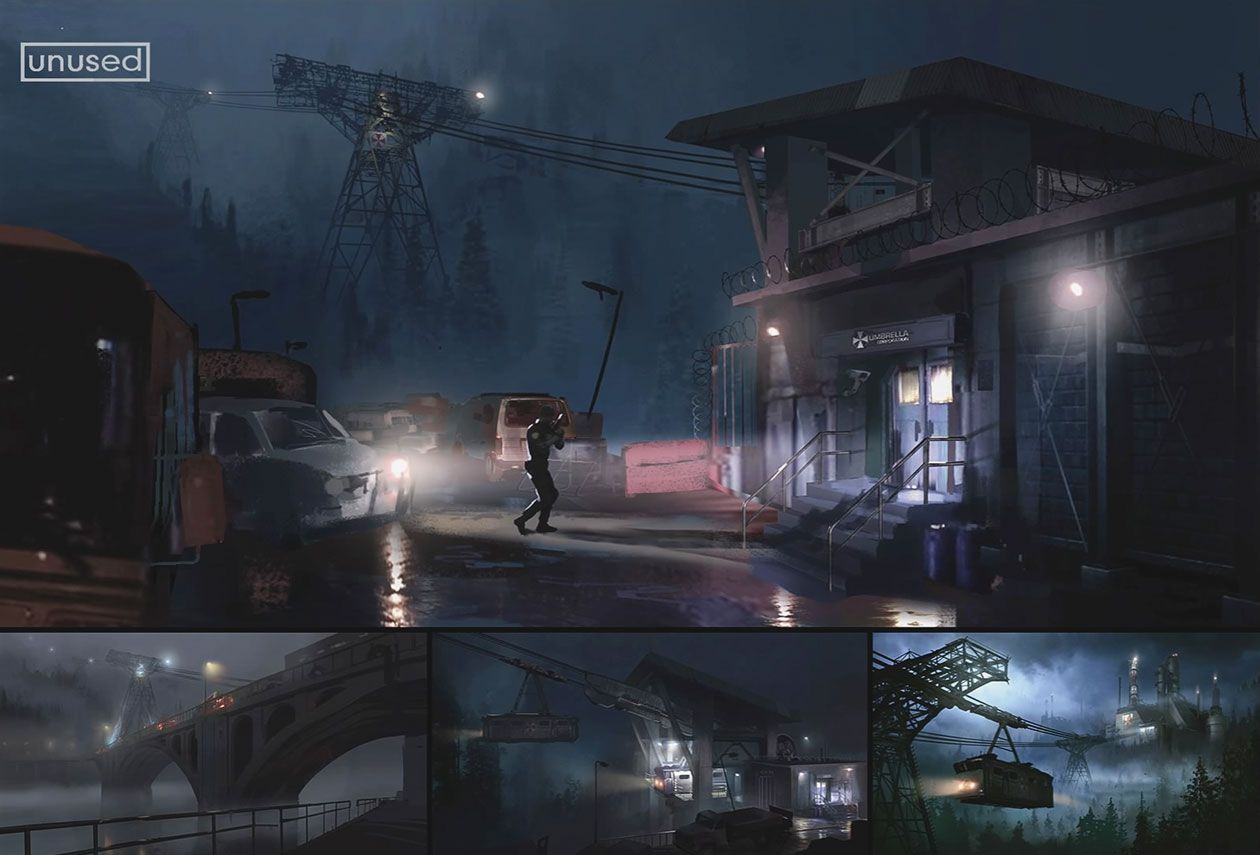 Raccoon City Cable Car Concept Art From Resident Evil 2 2019 Art Artwork Gaming Videogames Gamer Game Resident Evil Concept Art Environment Concept Art