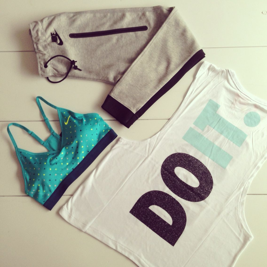 New stuff! #nike #nikewomen #sportswear #gear #turqoise #essentials #training #motivation