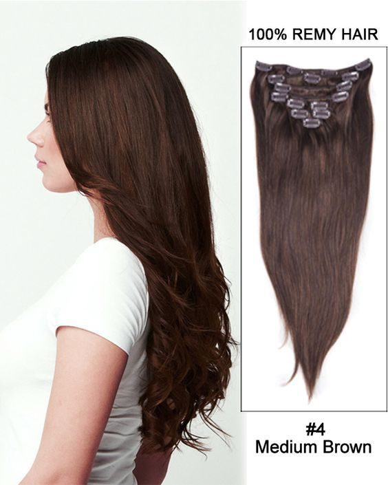 100 Remy Hair 14inch 4 Jiameisi 8pcsset Full Head Clip In Hair