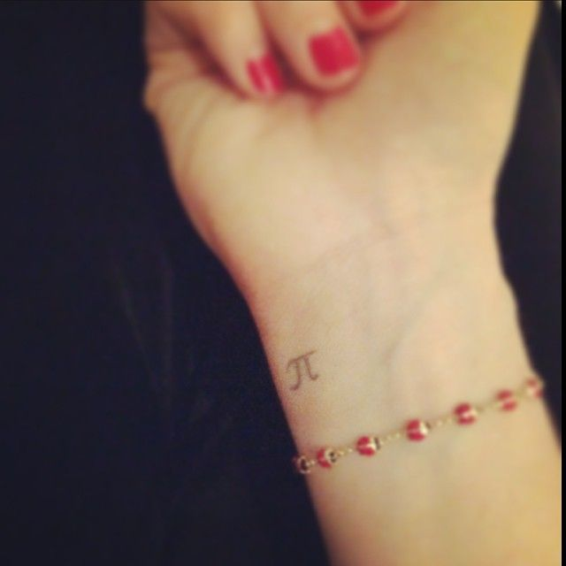 1233992776ad6e Pi-tattoo. | Tattoos:) | Pi tattoo, Tattoos, Wrist tattoos
