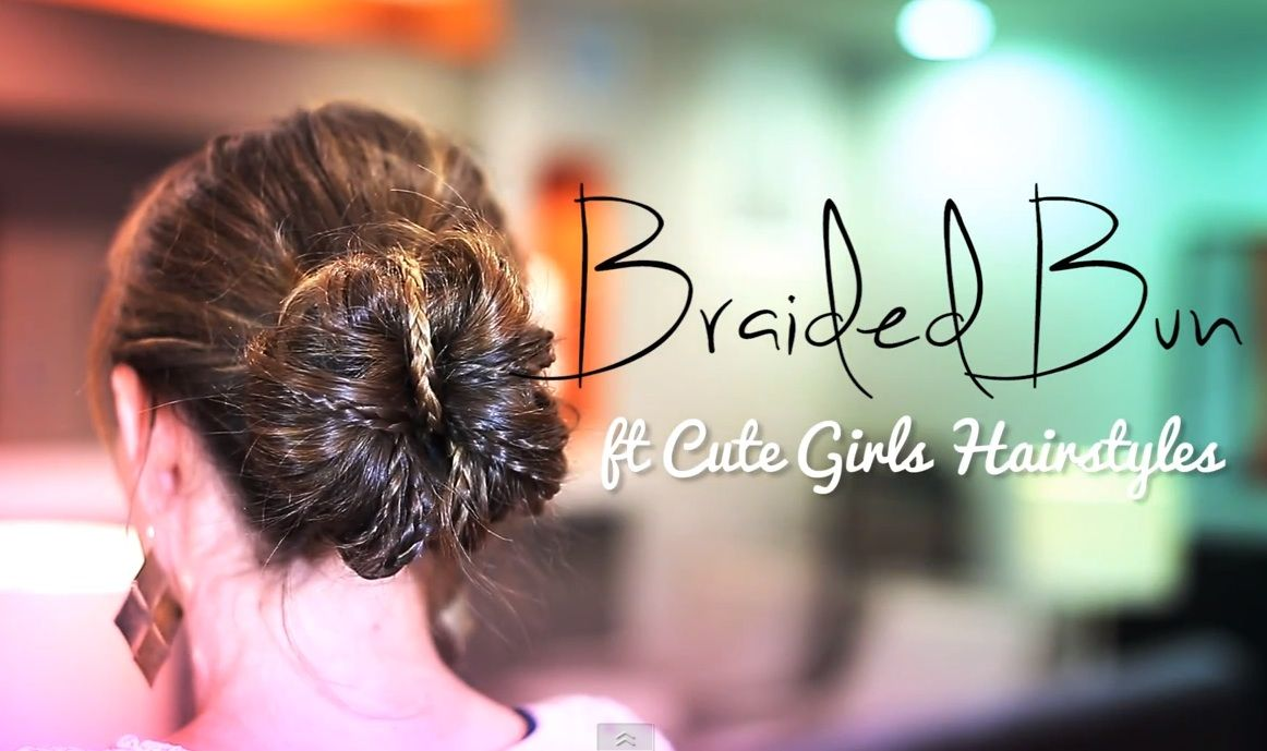 Braided buns from cute girls hairstyles love it hair pinterest