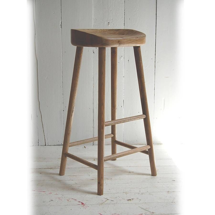 Weathered Oak Bar Stool | Oak bar stools, Stools and Bar stool
