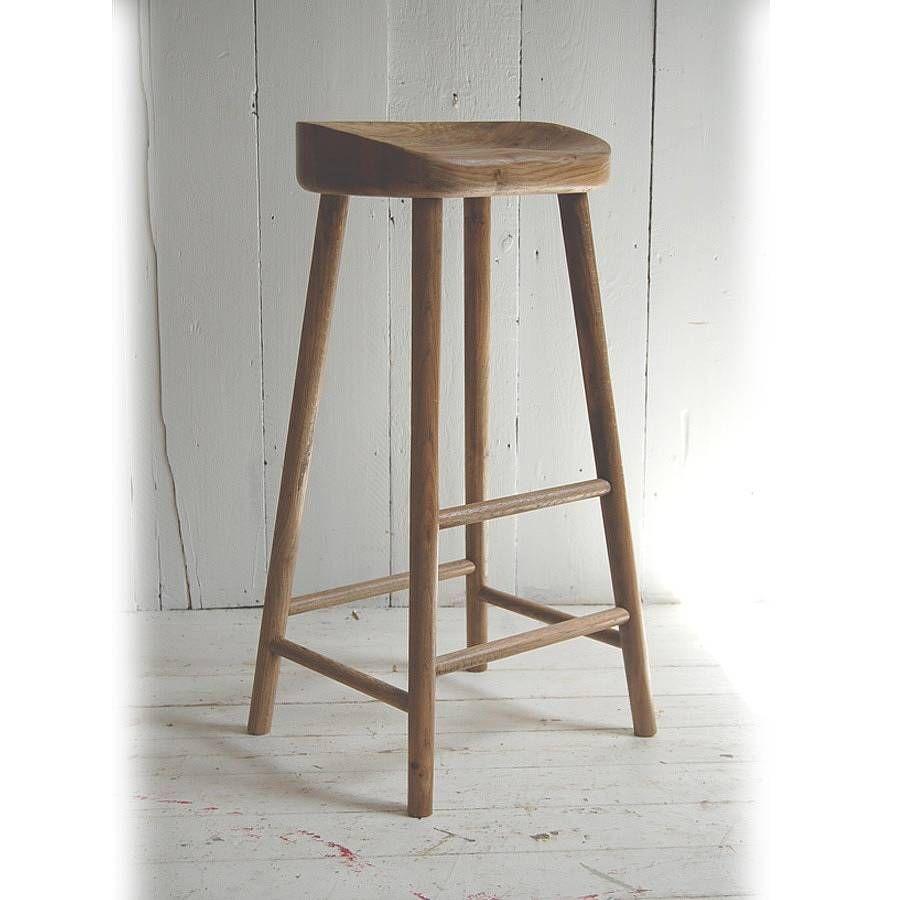 Oak bar stool from notonthehighstreet com