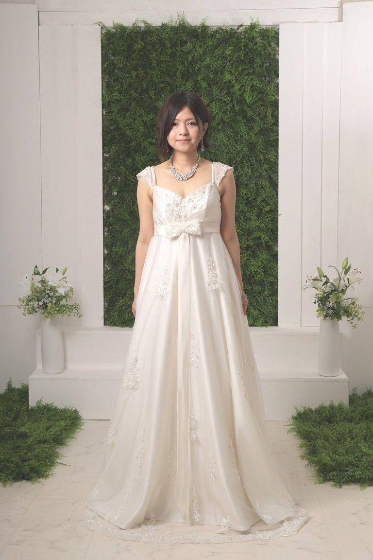 Brides Berry 肩紐有りエンパイアドレス ウェディングドレス
