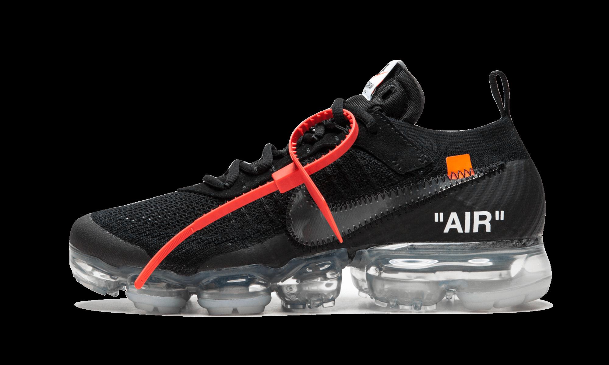 "The 10 Nike Vapormax FK ""OffWhite Black"" AA3831 002"