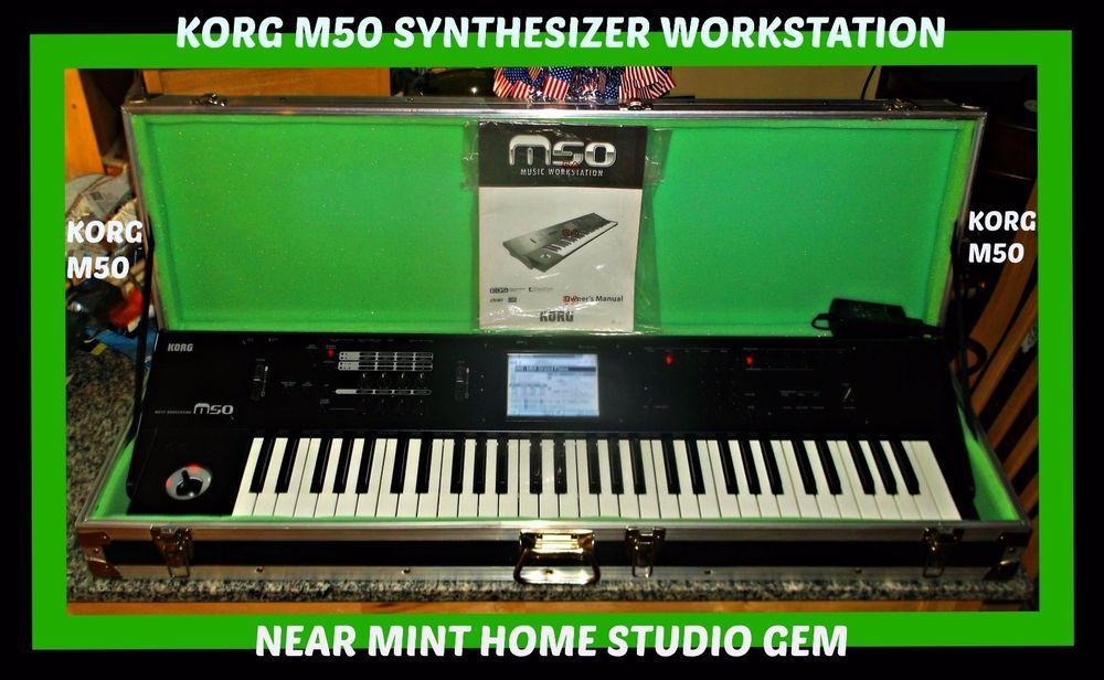 KORG M50 Synthesizer/Workstation 61Keys HomeStudio NM Gem in ANVIL