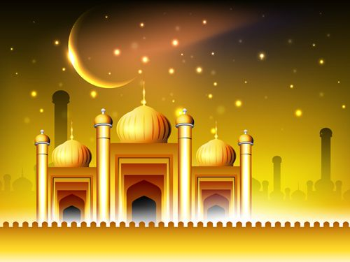 Vector Islamic Style Background Set 02 - Vector Background Free Download    Desain Banner, Desain, Islam
