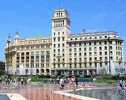 Barcelona placa catalunya