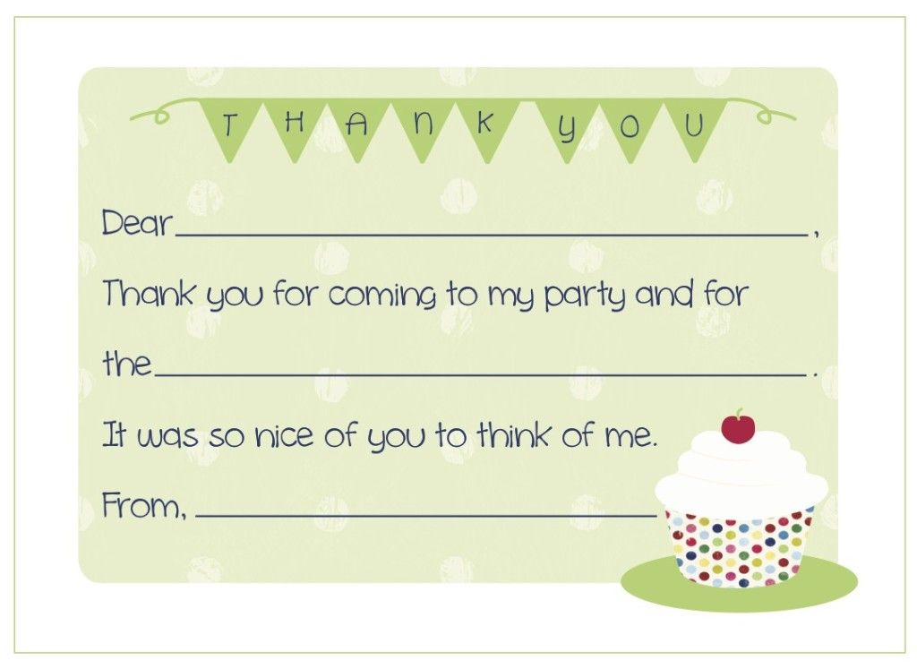 Free Kids Fill In The Blank Thank You Card   Click On An Everyday    Microsoft  Microsoft Thank You Card Template