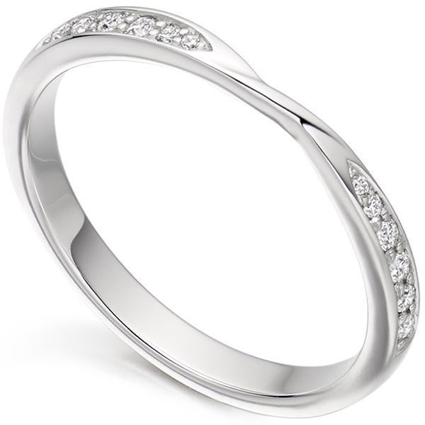 Ribbon Twist Diamond Wedding Ring Rings Pinterest Diamond