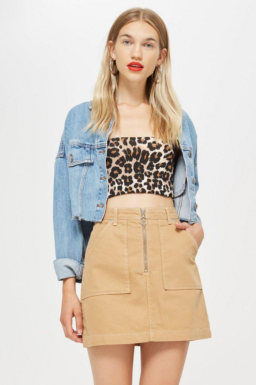 769aae6a71 Tan Denim Utility Skirt in 2019 | TopShop | Denim skirt, Skirts ...