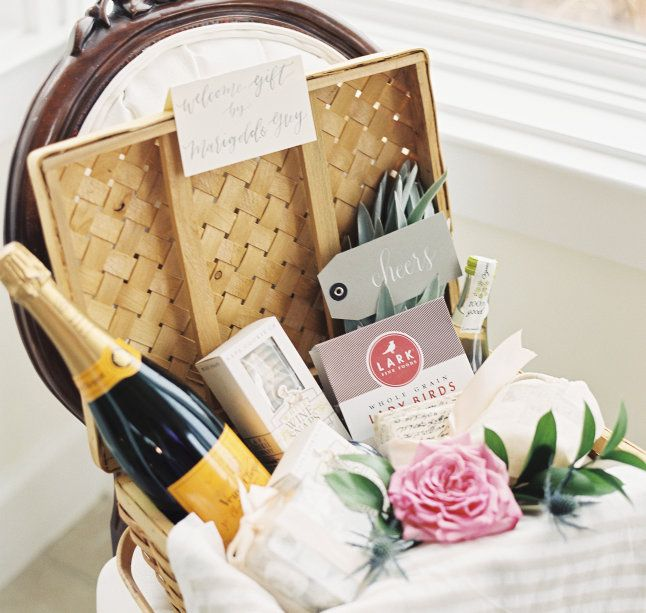 Garden Inspired Wedding Welcome Gift Basket | Wedding Bliss ...